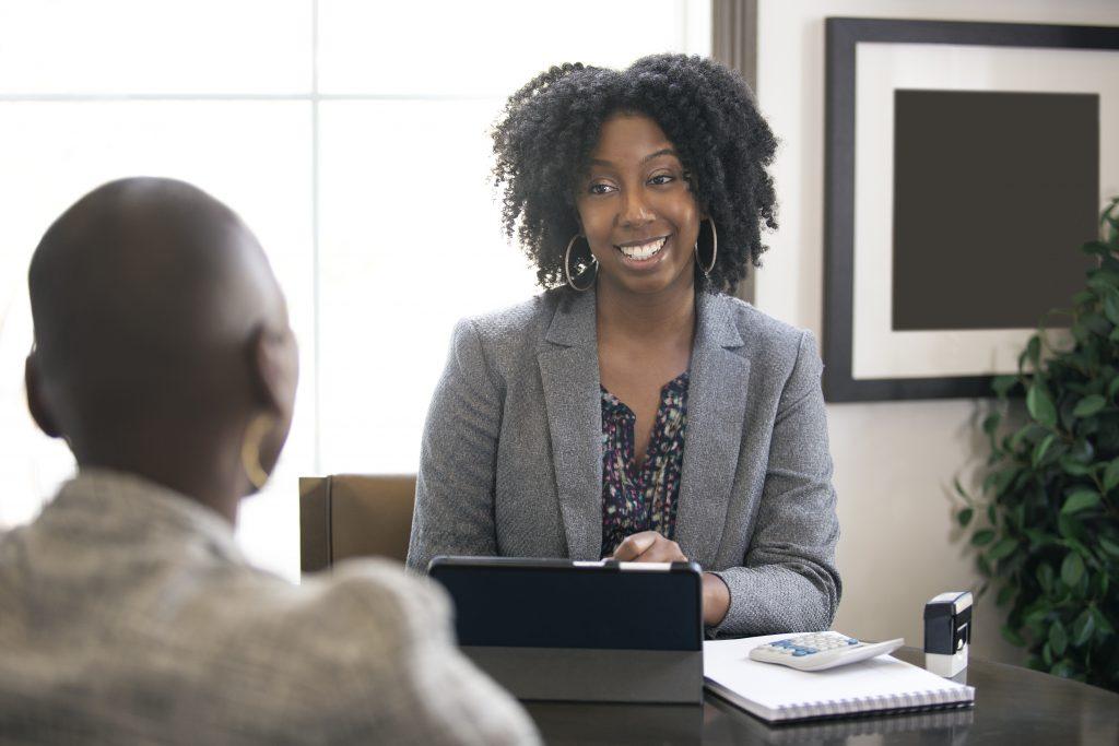 Black Female Businesswoman Tax Preparer or CPA