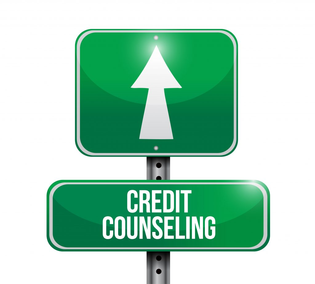 credit counseling street sign illustration